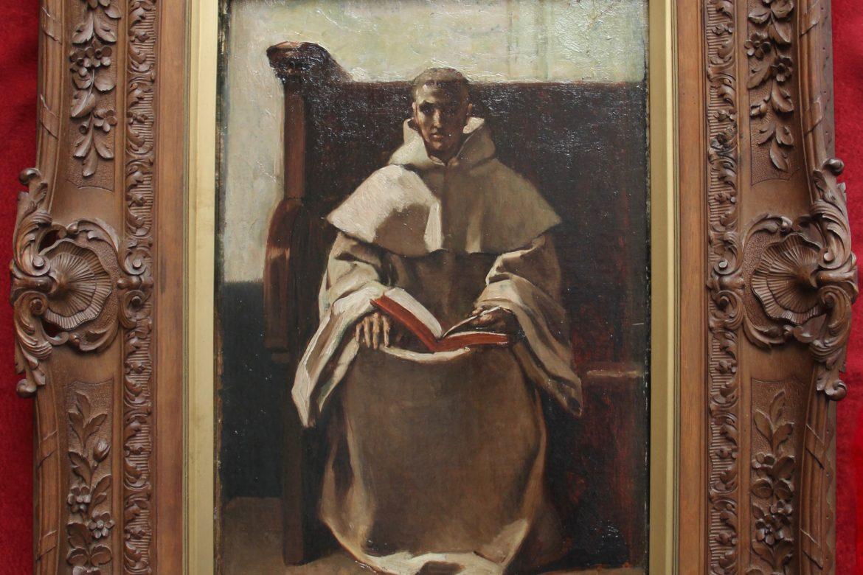 Meunier Trappist monk in frame